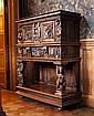 FRENCH WALNUT SIDE CABINET 16TH CENTURY 115cm wide, 143cm high, 47cm deep
