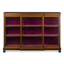 EDWARDIAN ROSEWOOD AND SATINWOOD DISPLAY CABINET EARLY 20TH CENTURY 176cm wide, 123cm high, 40cm deep