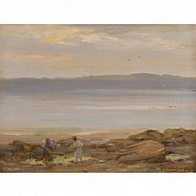 WILLIAM STEWART MCGEORGE R.S.A. (SCOTTISH 1861-1931) THE MOUTH OF THE DEE 31cm x 41cm (12in x 16in)