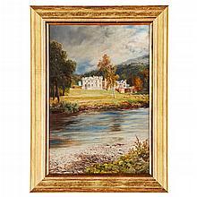 JOHN MACWHIRTER R.A., R.S.W. (SCOTTISH 1839-1911) ABBOTSFORD 49cm x 33cm (19.25in x 13in)