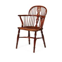 YEWWOOD AND ELM WINDSOR CHAIR EARLY 19TH CENTURY 59cm wide, 90cm high, 39cm deep