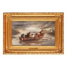 JOHN LAMONT BRODIE (BRITISH FL.1834-1881) THE FIERY CROSS 31.5cm x 55.5cm (12.5in x 21.75in)