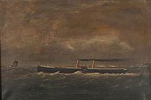 J. CARROLL PADDLE STEAMER 59cm x 90cm (23.25in x 35.5in)