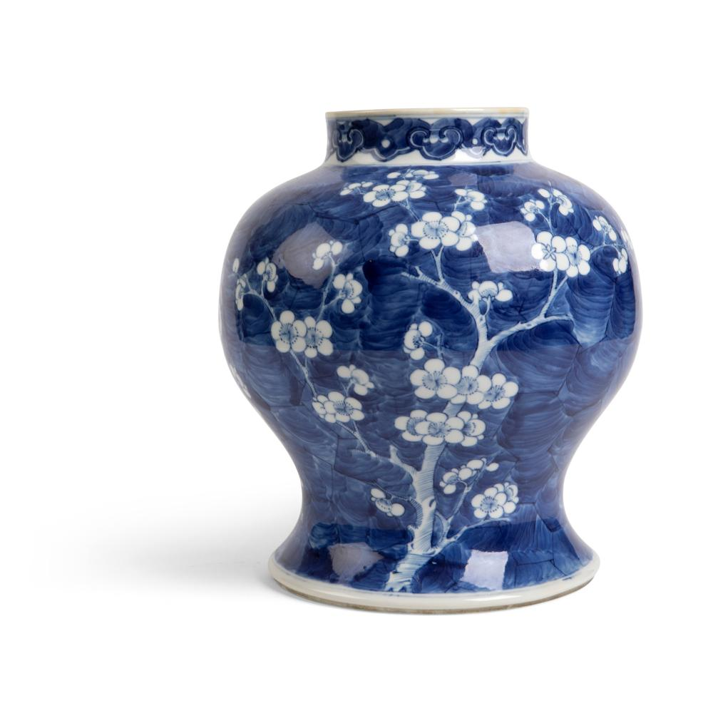BLUE AND WHITE 'CRACKED ICE AND PRUNUS' VASE QING DYNASTY, 19TH CENTURY