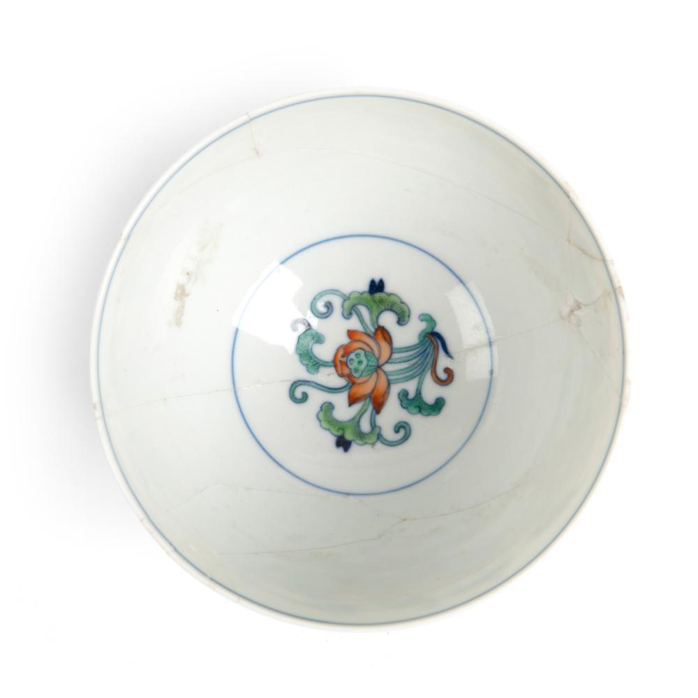 DOUCAI 'LOTUS' BOWL QING DYNASTY, GUANGXU MARK AND OF THE PERIOD