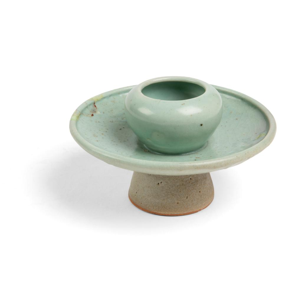 KOREAN CELADON CUP STAND GORYEO DYNASTY, 13TH CENTURY