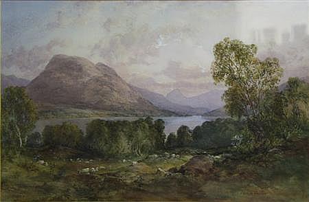 JAMES FERRIER (SCOTTISH FL.1843-83) HIGHLAND LOCH 33cm x 52cm (13in x 20.5in)