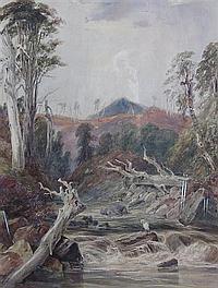 SAMUEL AUSTIN (BRITISH 1796-1834) THE HAUNT OF THE HERON 50cm x 38cm (19.75in x 15in)