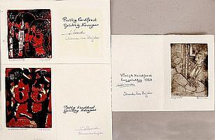 3 Kunstwerken Isaac Naarden (Amsterdam 1902 - ),