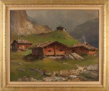 Ernst Albert Fischer Cörlin, Swiss log cabins