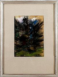 Henri Kley (1903-1977), pastel op papier, abstract