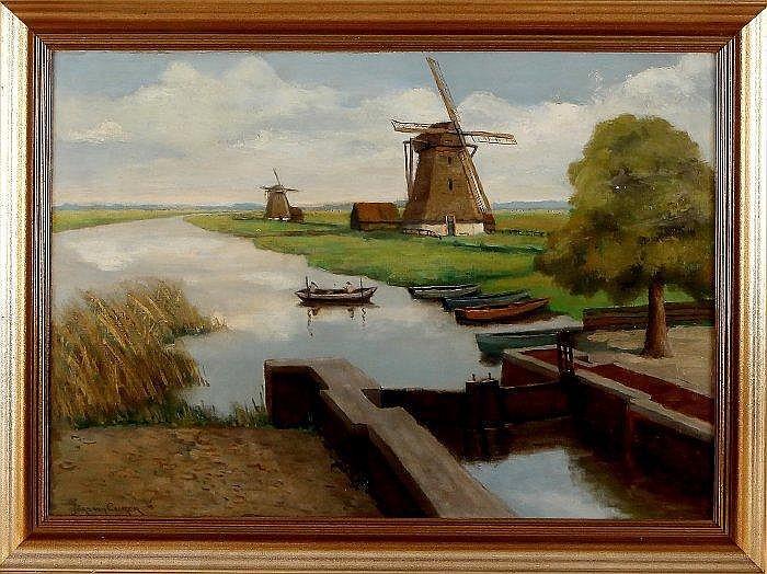 Jord van Calker (1919 Hilversum, Gooi painting