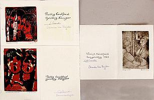 Drie kunstwerken Isaac Naarden (Amsterdam 1902 -