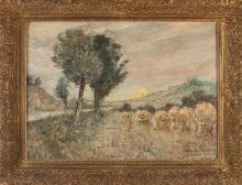 Jan Wingen, Landscape with sheaves of wheat