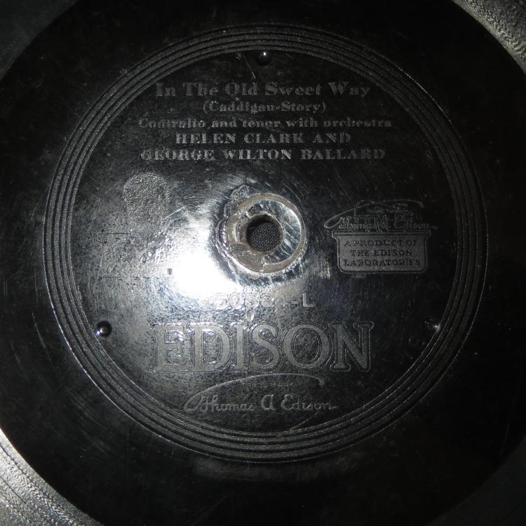 Rare 1919 Helen Clark And George Wilton Ballard Edison Diamo