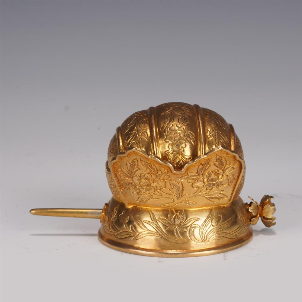 A CHINESE GILDING SILVER HAIR DECORATION
