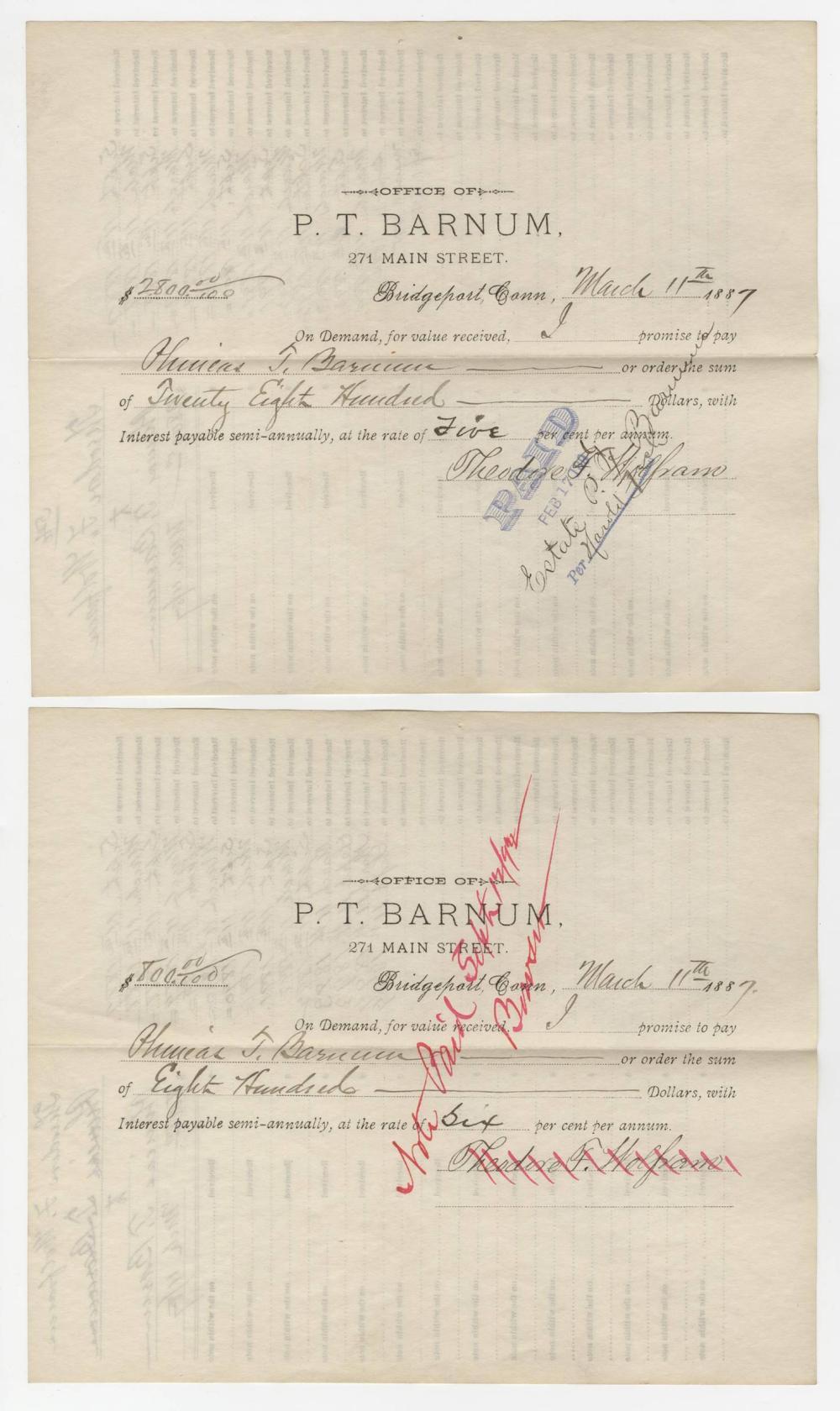 P.T. Barnum Signed Land Conveyance