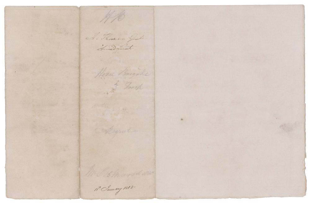 British East India Company Commission Signed by Governor-General of India Francis Rawdon-Hastings