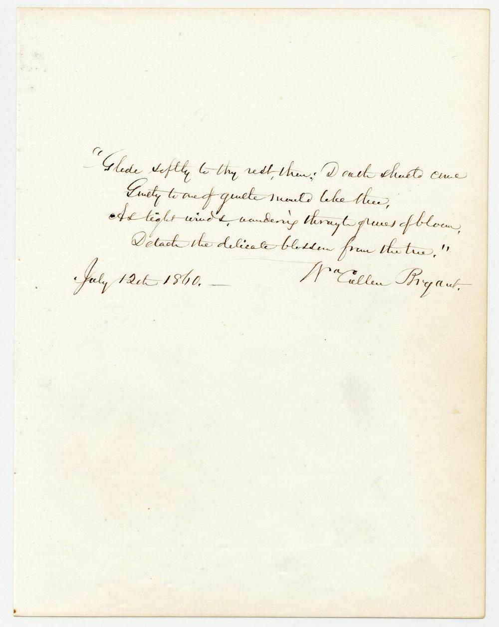 William Cullen Bryant Lovely AQS from