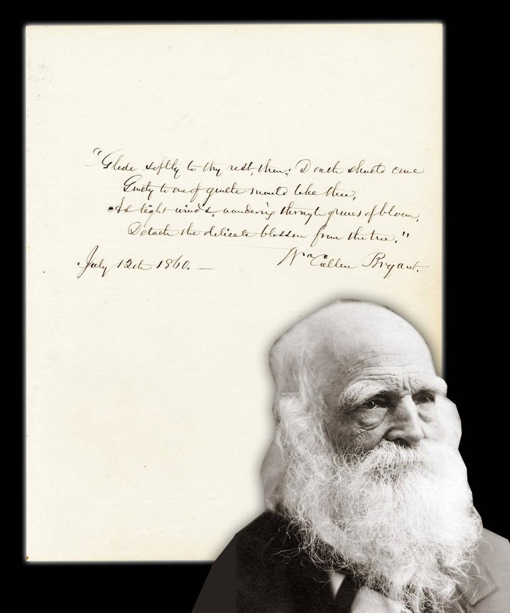 """William Cullen Bryant Lovely AQS from """"Consumption"""""""