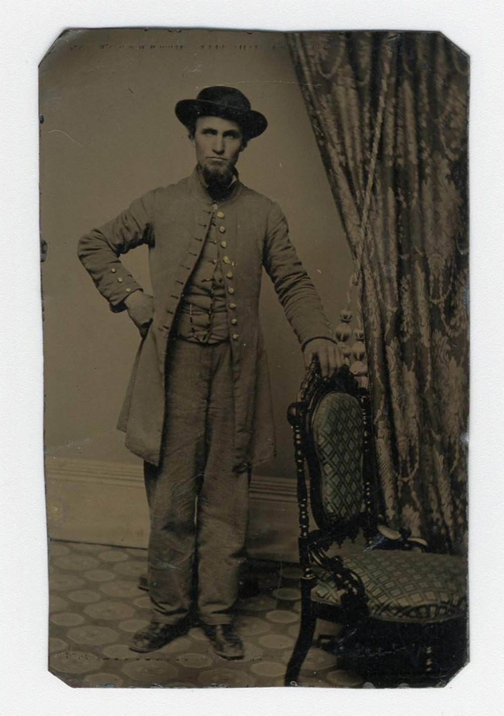 Confederate Soldier Tintype, with Outstanding Provenance