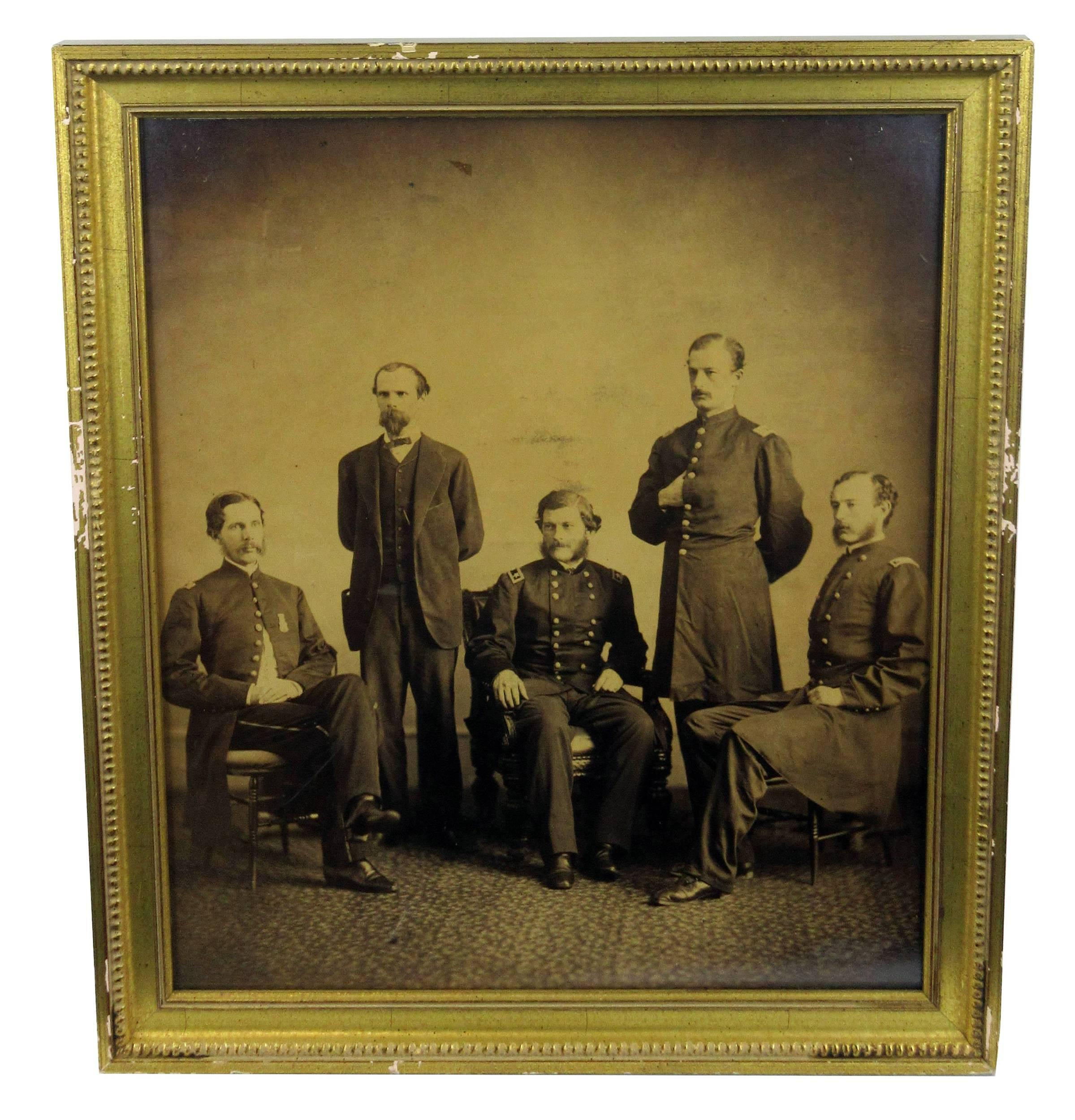 Civil War Albumen Photo Featuring General John Grubb Parke & Other Union Army Officers