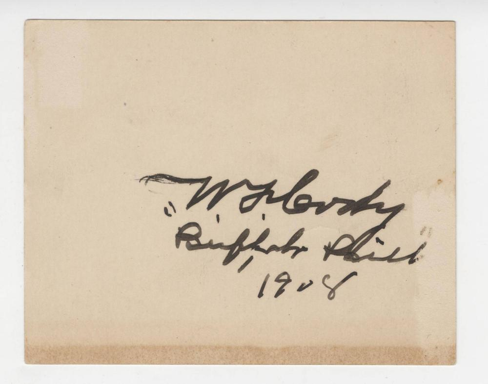 "William Cody Signed Twice Card ""Buffalo Bill"", ""W.F. Cody"""