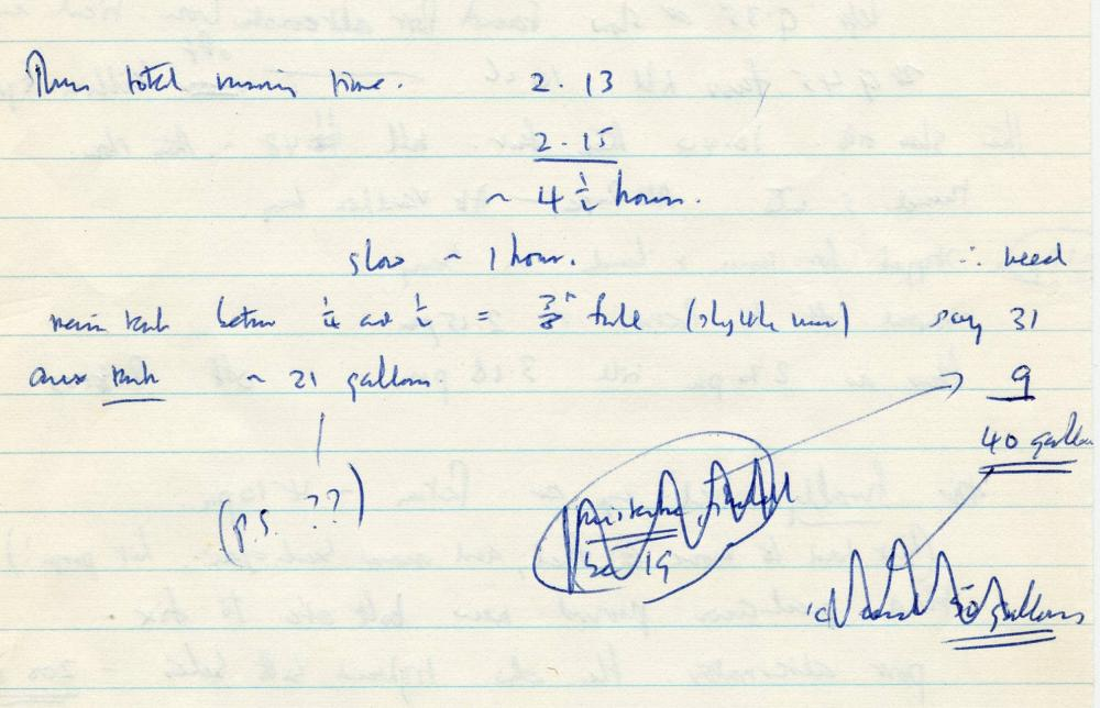 Francis Crick Virtually Unobtainable Handwritten Manuscript with Mathematical Calculations, 4 Years After Nobel Prize Win for Discovery of DNA Structure