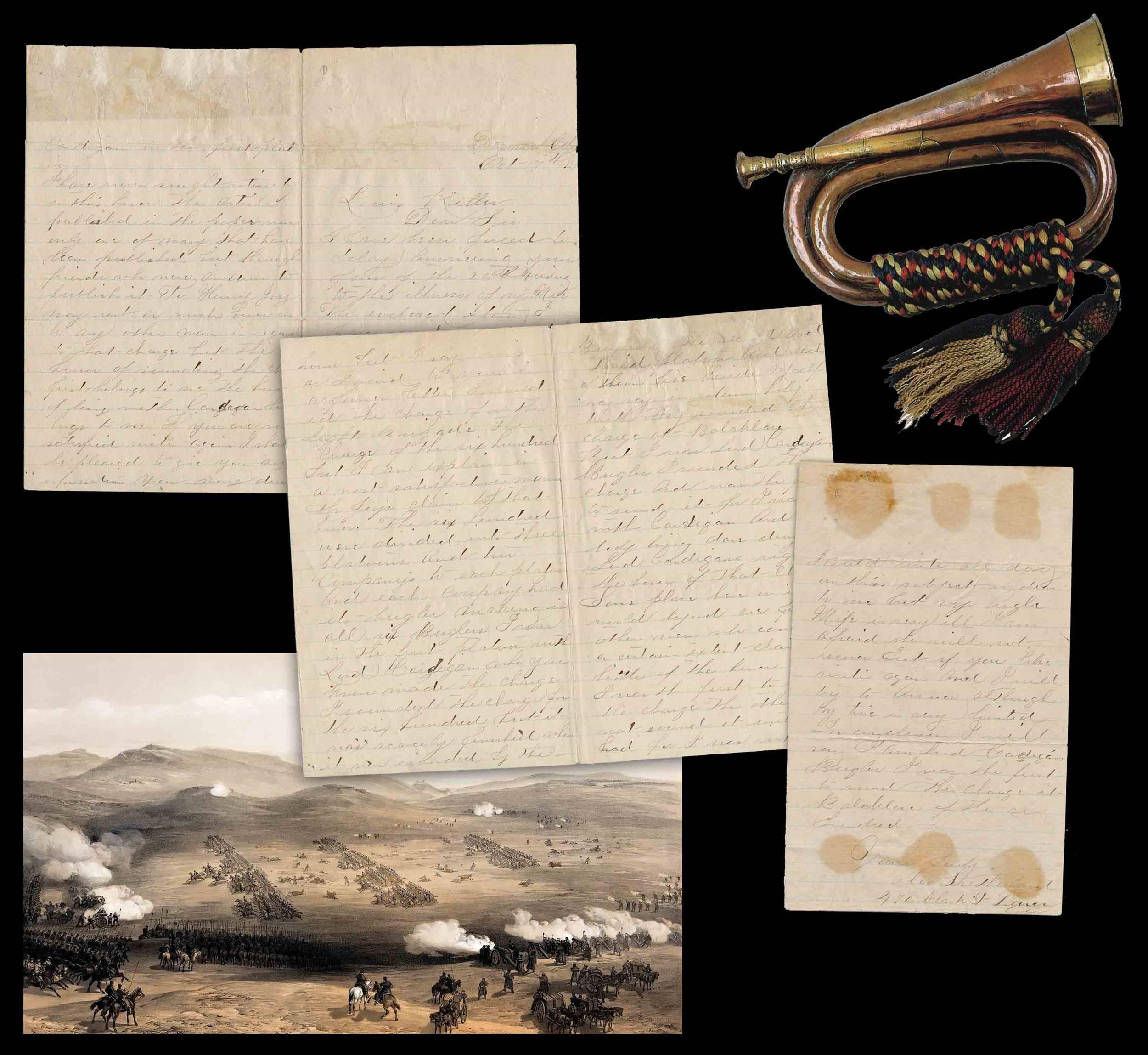 """A. Sutherland, Crimean War Bugler: """"I sounded the charge for the Light Brigade the Charge of the six hundred"""""""
