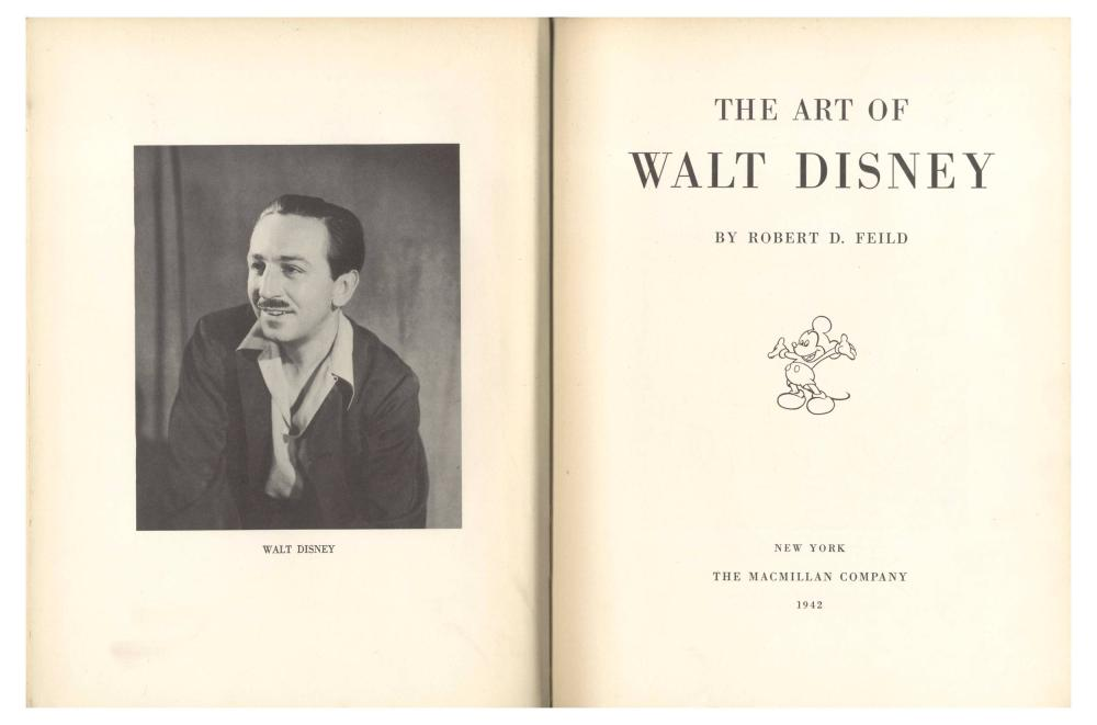 Walt Disney Signed Copy of His Pioneering Animation Study,