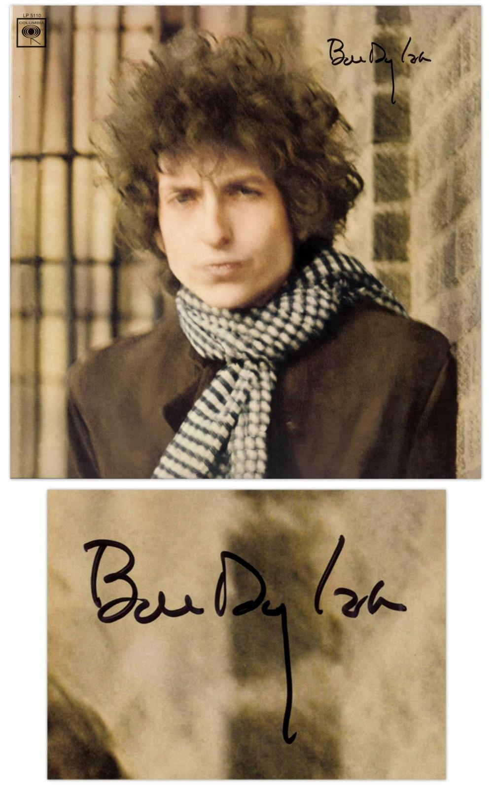 "Bob Dylan Signed Double Album ""Blonde on Blonde"" with Jeff Rosen COA"