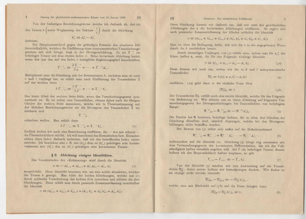 Uniform Field Theory, by Albert Einstein, 1929