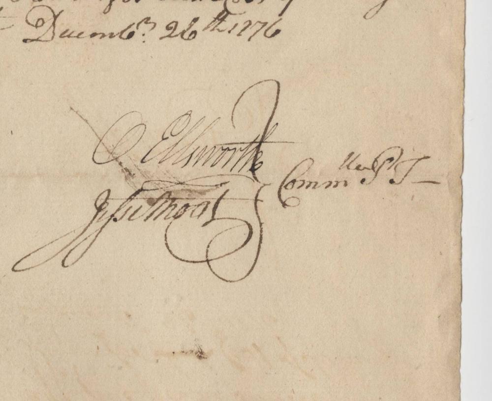 Oliver Ellsworth Signed DS, from 1776!