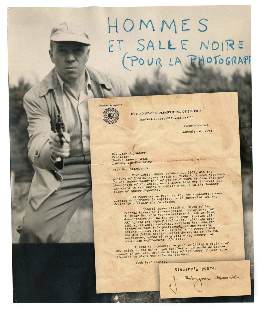 Quick Draw! J. Edgar Hoover TLS Praising New England's FBI Agents