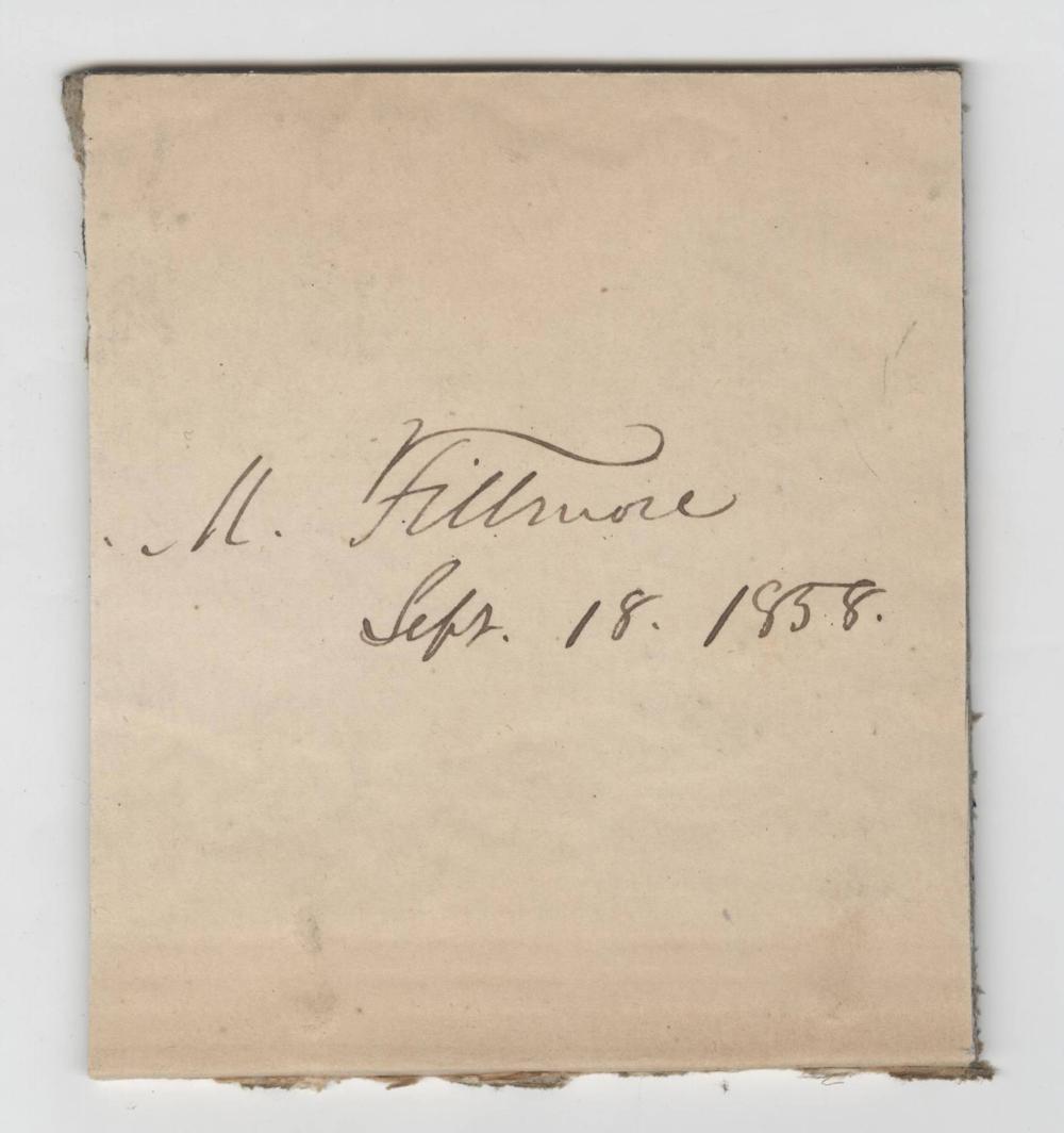 Millard Fillmore Clip with PSA/LOA