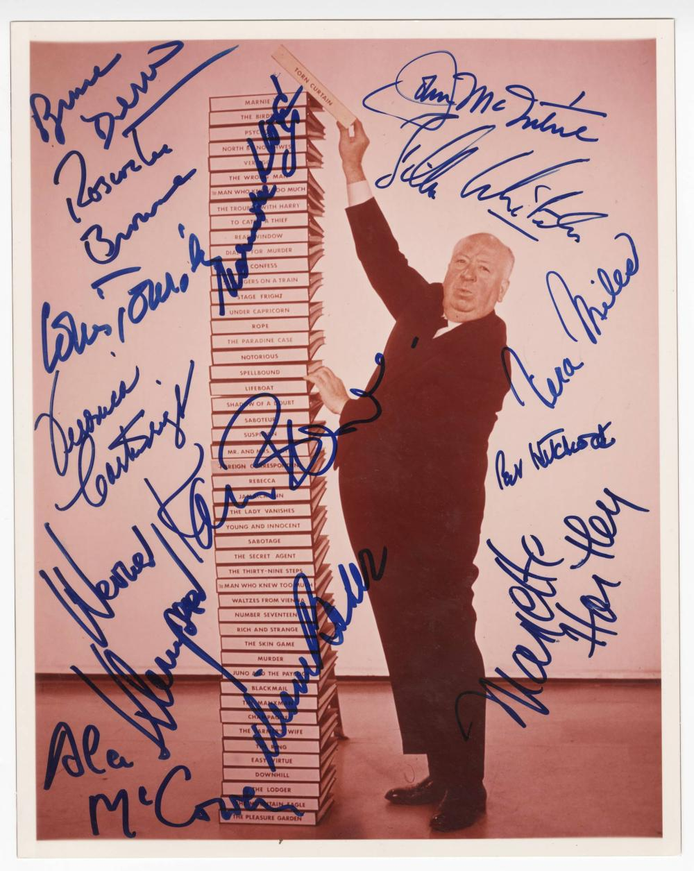 The Stars of Alfred Hitchcock, Signed by 26 Important Actors & Actresses
