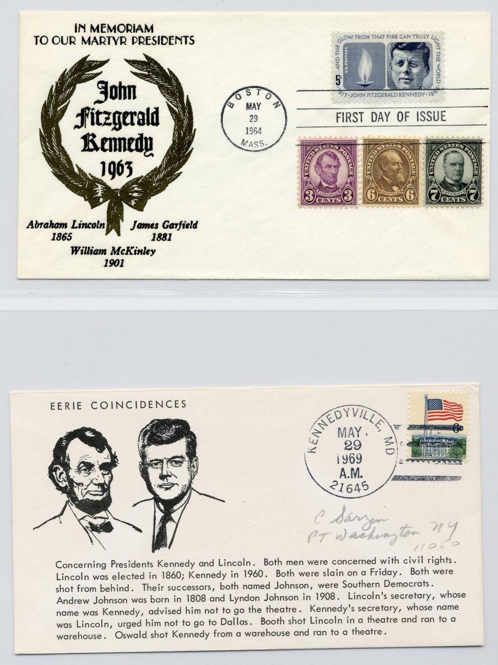 John F. Kennedy Fantastic Large Collection of Postal Memorabilia 140 Items