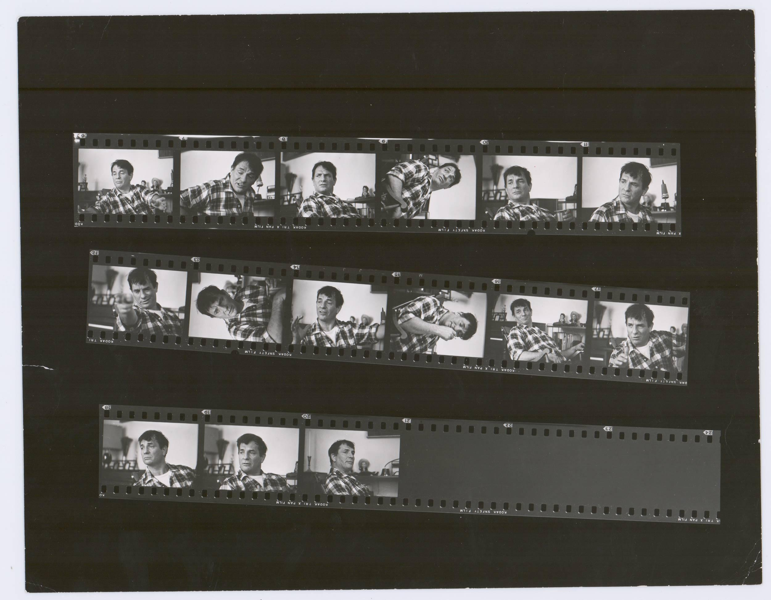 Superb Jack Kerouac Photographic Contact Sheet of One of a Kind Images ca. 1968, Estate Provenance