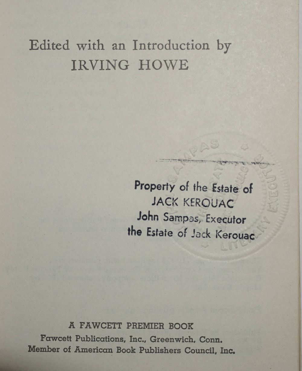Kerouac Personally Owned Book