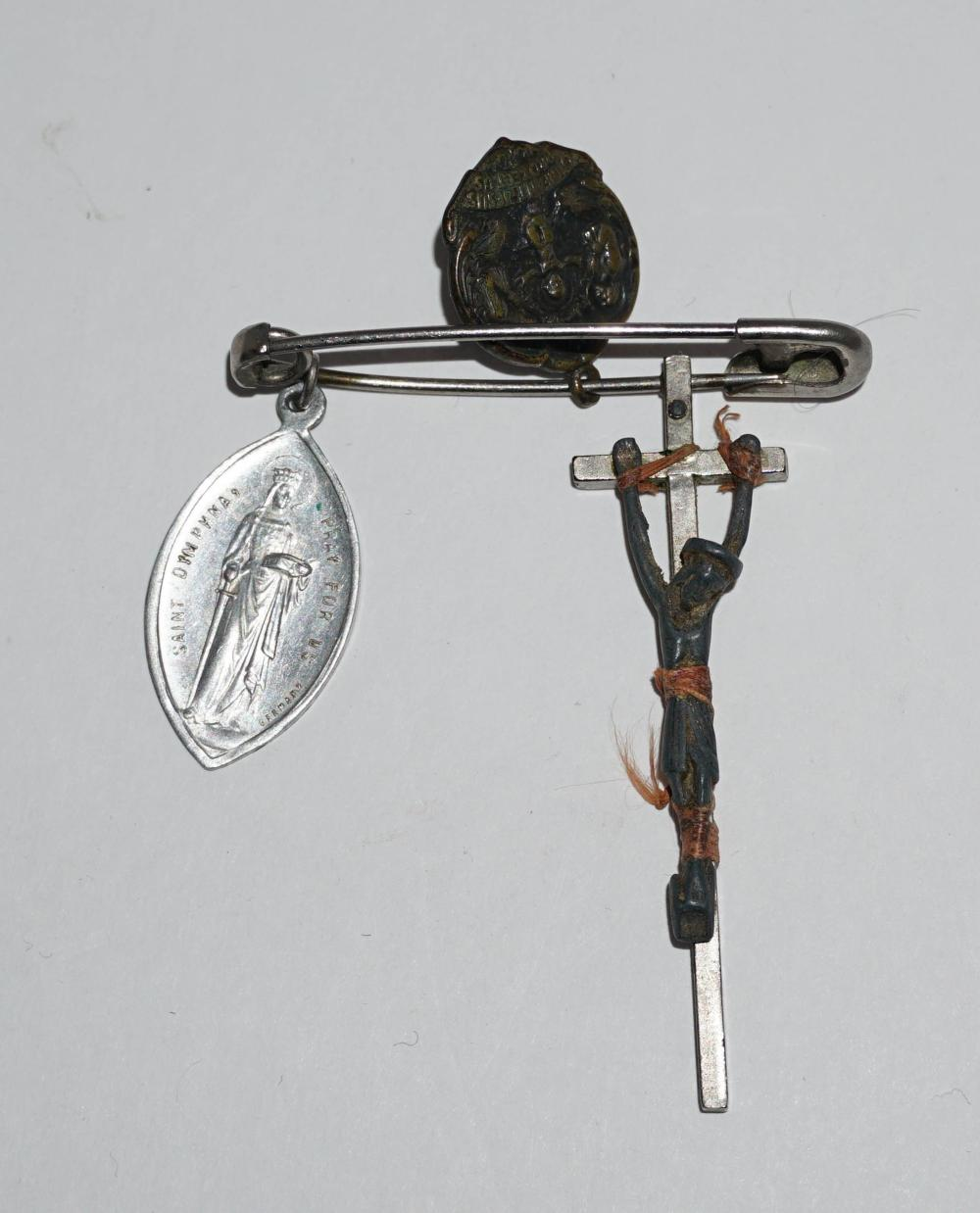 Jack Kerouac's Crucifix with Two Medallions, With Estate Provenance
