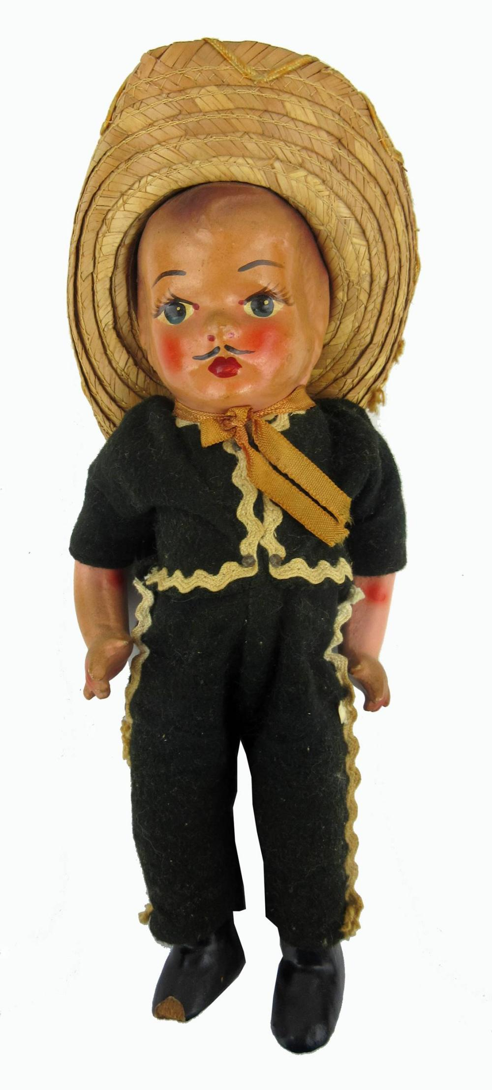 Jack Kerouac's Personally Owned Vintage Hand-Painted Mexican Dolls