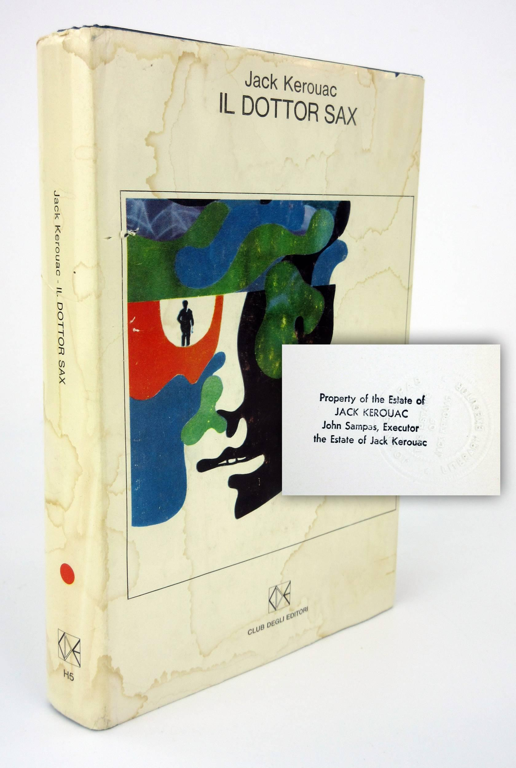 """Jack Kerouac's Personally Owned Italian Translation of """"Doctor Sax"""", with Outstanding Provenance"""