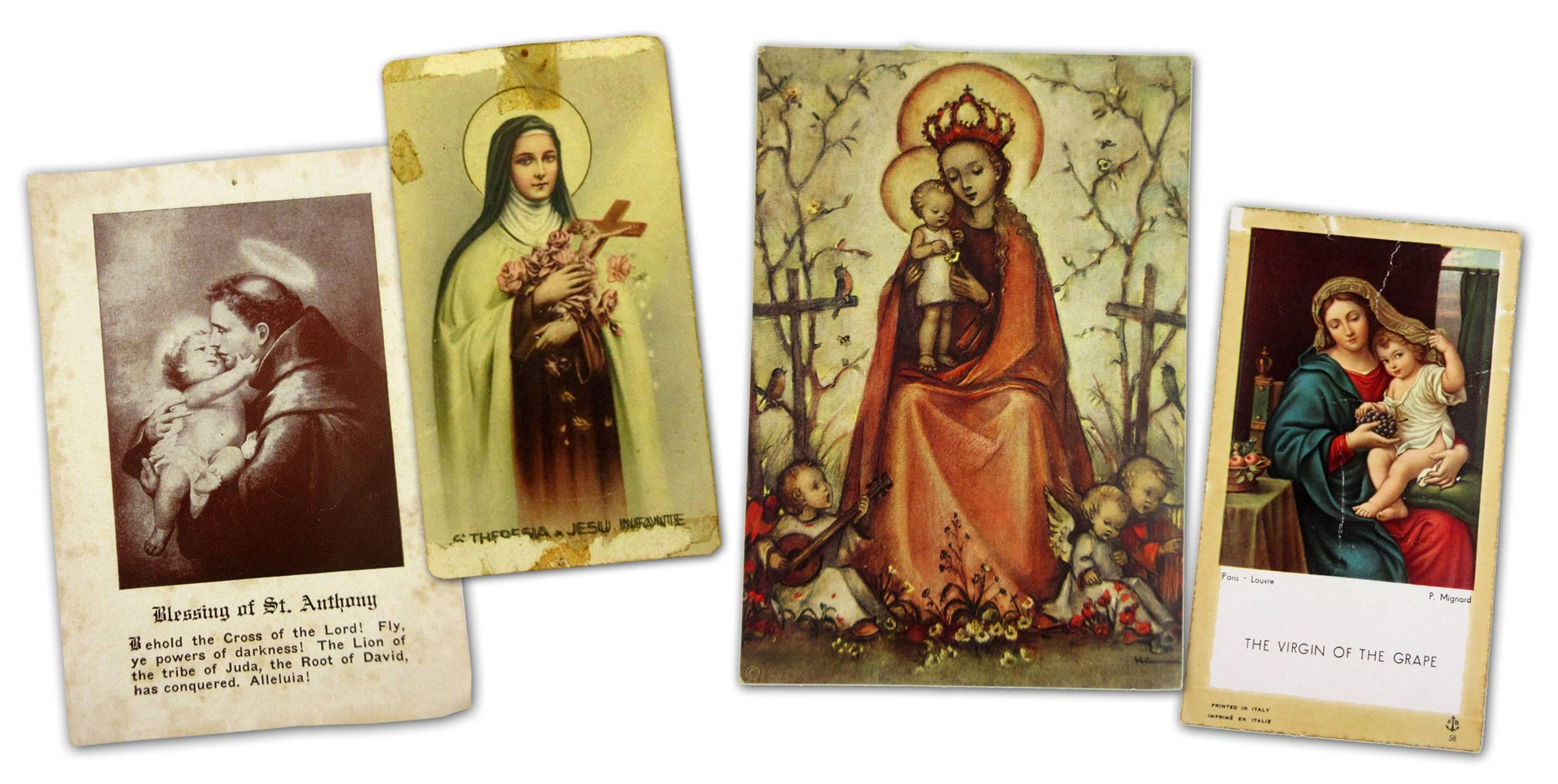 Jack Kerouac's Personally Owned Mass & Prayer Cards