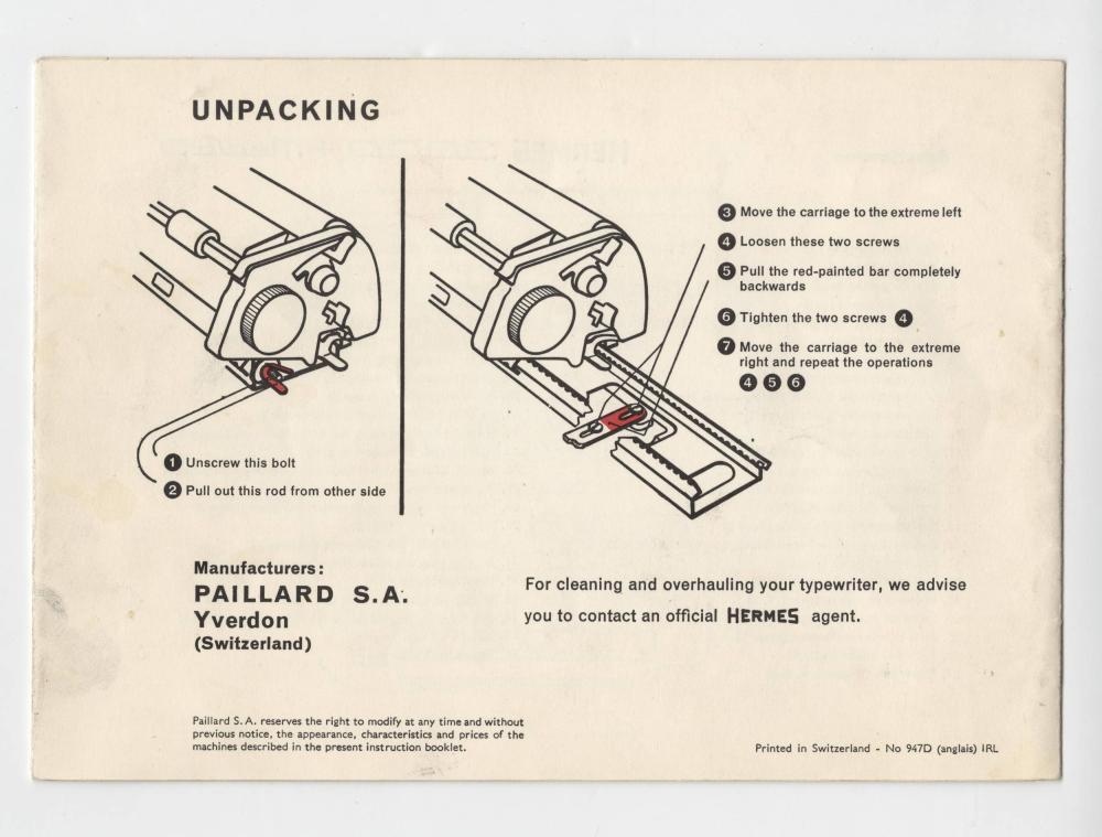 Jack Kerouac's Famous Hermes Typewriter Manual, Used to Write