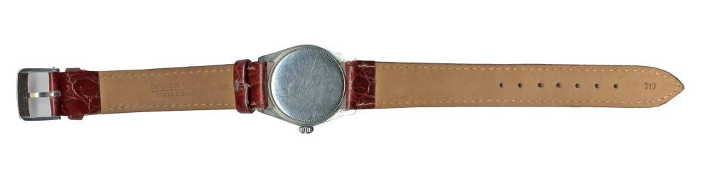 Jack Kerouac's Personally Worn Modest Stainless Steel Rolex Wristwatch