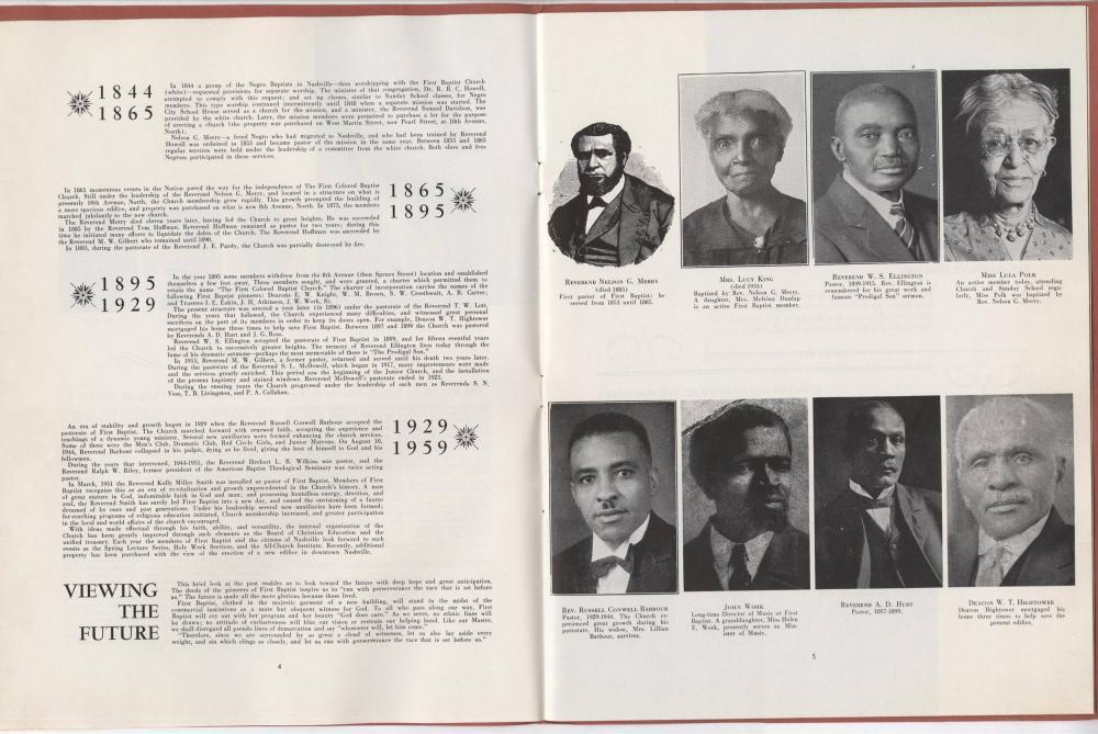 Mrs. Martin Luther King Jr, Rare 1959 First Baptist Church Program Featuring Coretta Scott King