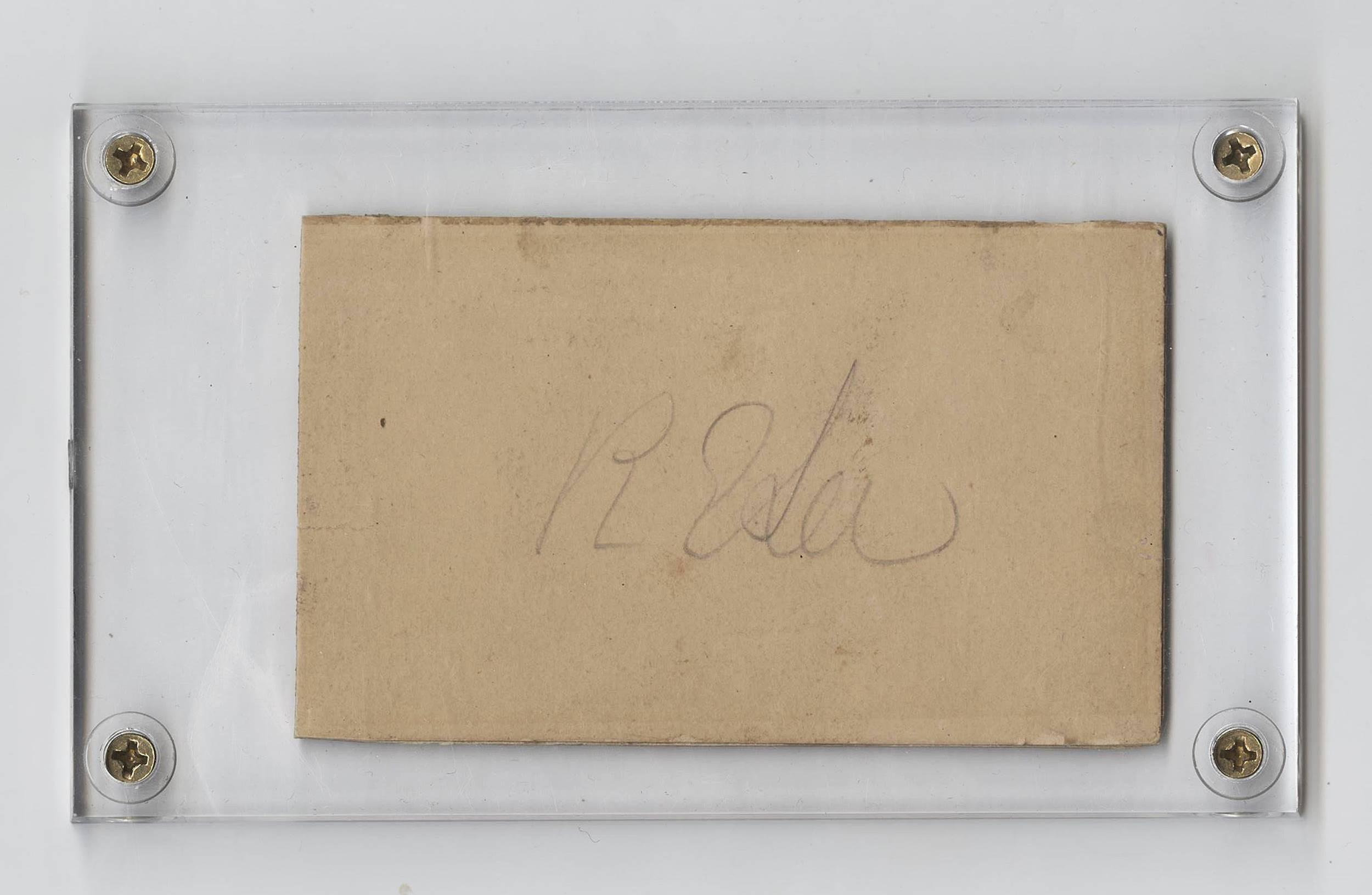 Robert E. Lee Signature in Lovely Case