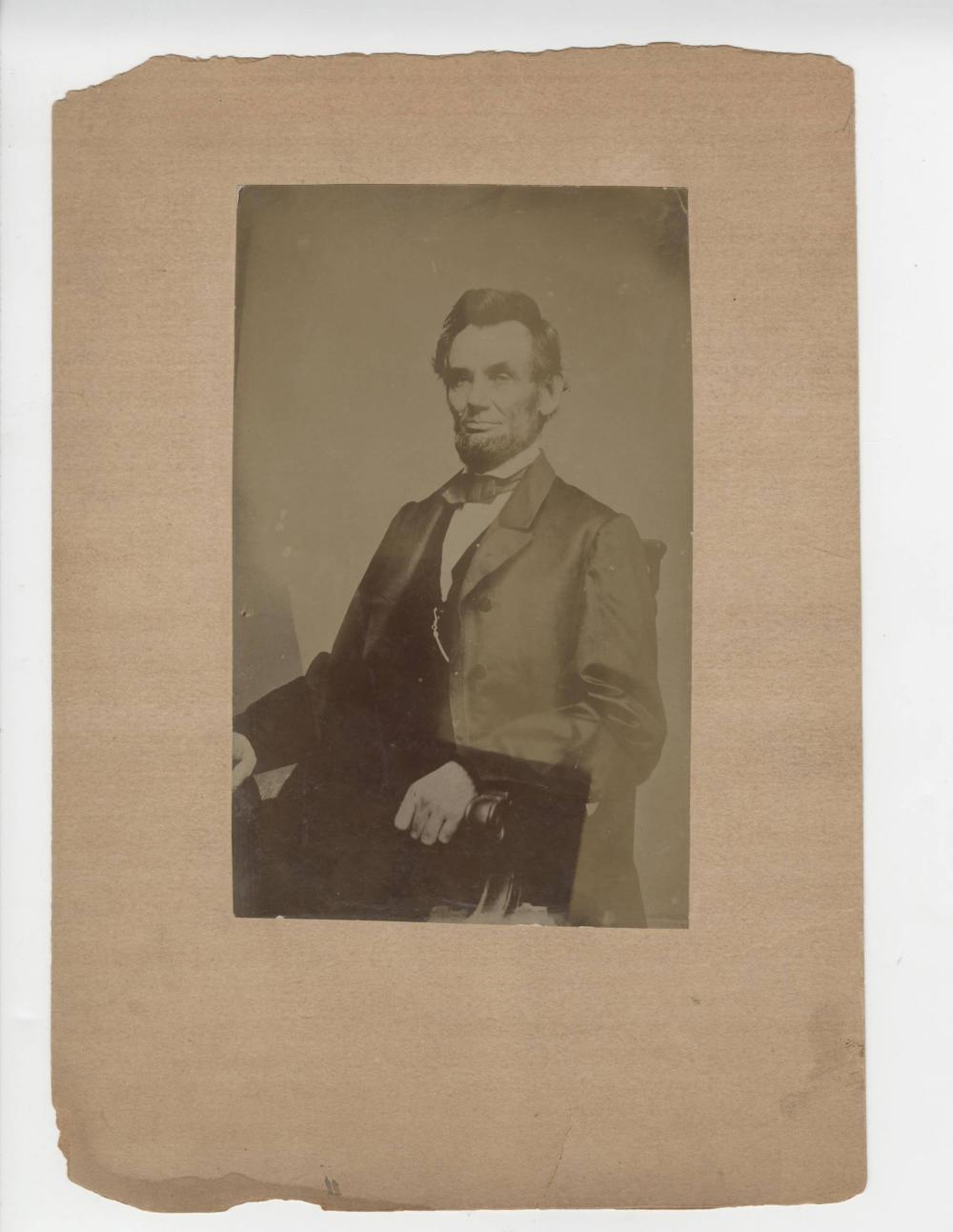 Abraham Lincoln Photo, Circa 1890, Ex. Forbes