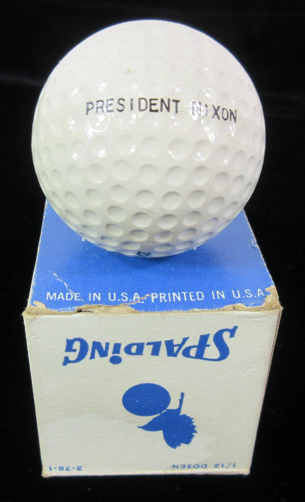 """""""President Nixon"""" Personally Owned & Used Golf Ball, with Outstanding Provenance"""