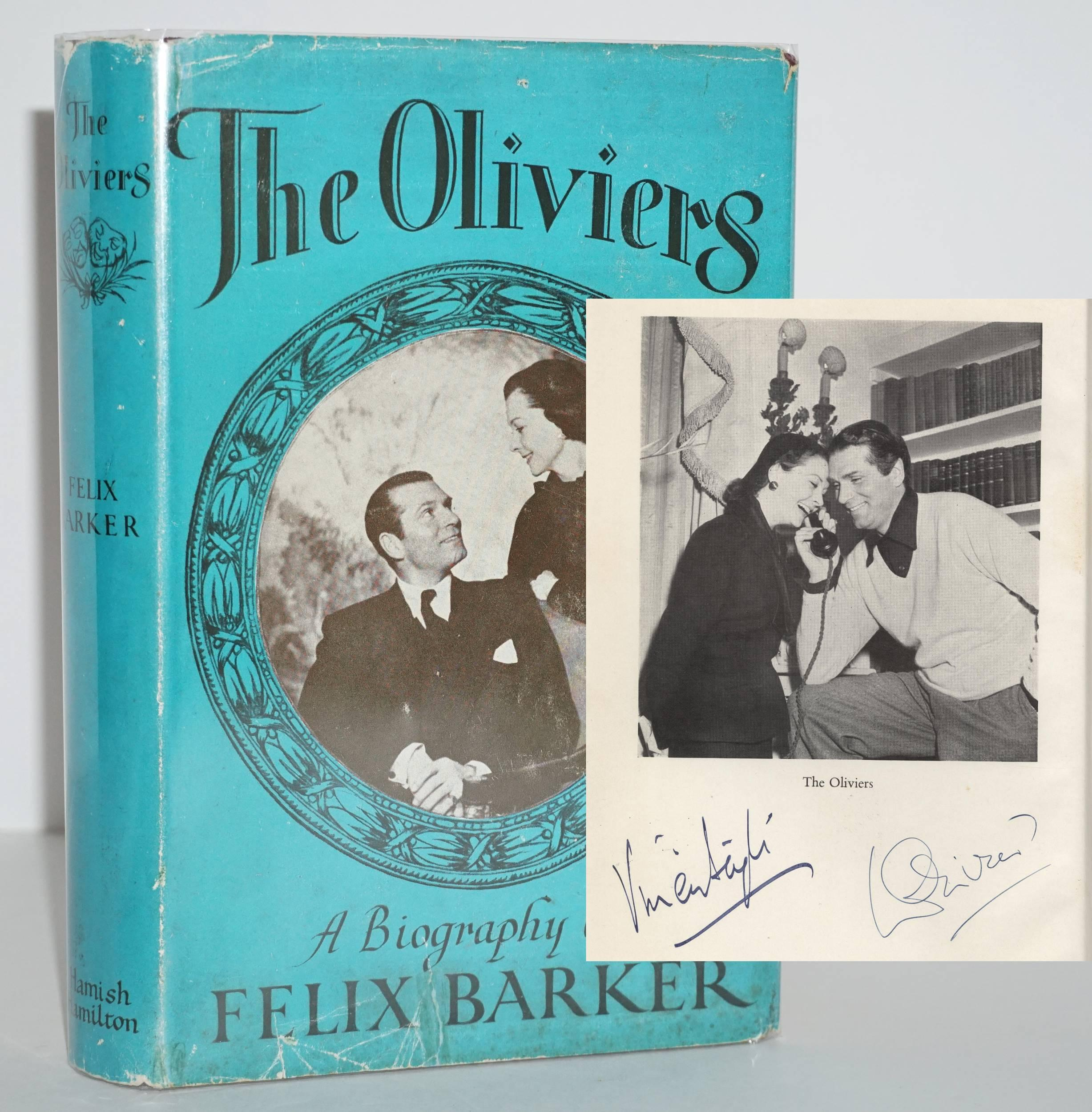 """Laurence Olivier & Vivien Leigh SIGNED """"The Oliviers: A Biography"""""""